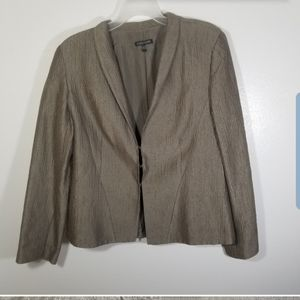 Eileen Fisher Tan Vintage 3 Hook Blazer Sz Small
